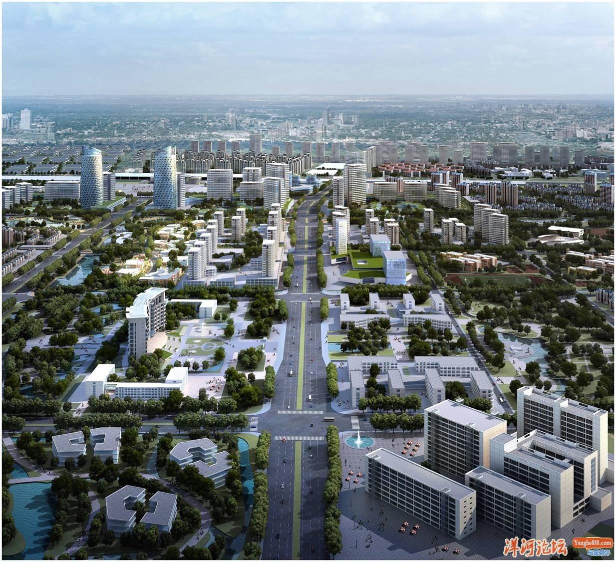 洋河新城规划效果图